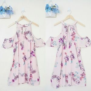 Candie's Halter Floral Pink Mini Dress